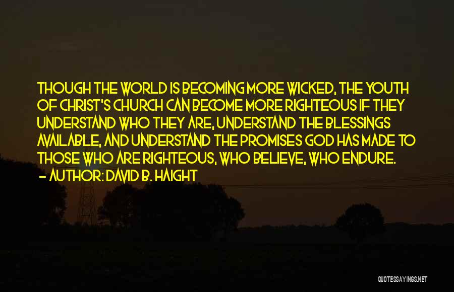 God's Blessings Quotes By David B. Haight