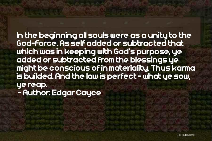 God's Blessings Quotes By Edgar Cayce