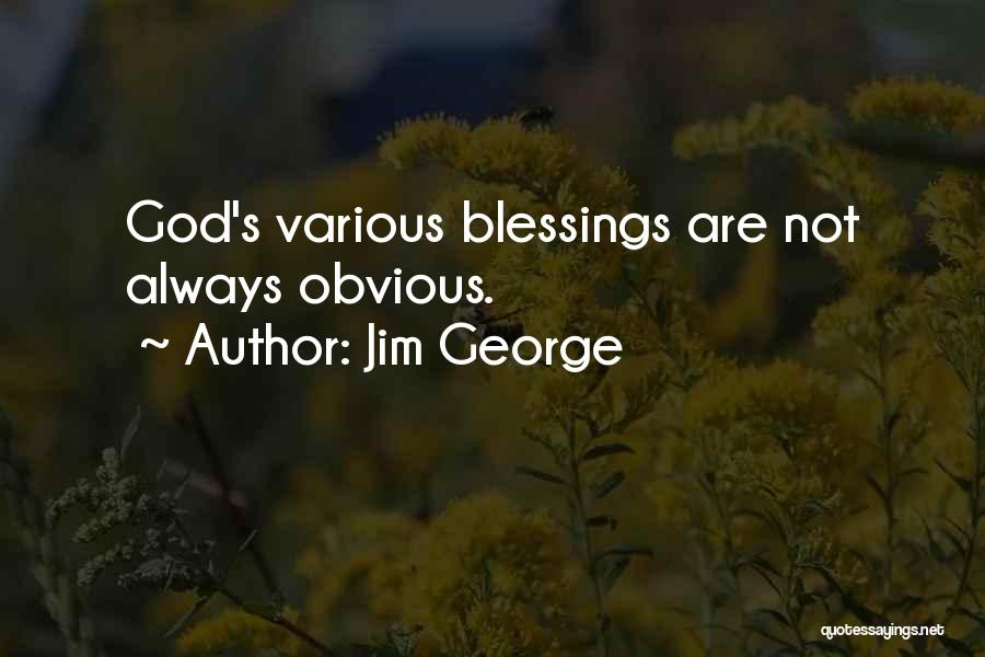 God's Blessings Quotes By Jim George