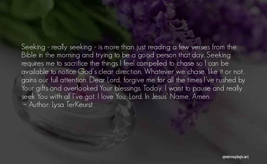 God's Blessings To You Quotes By Lysa TerKeurst