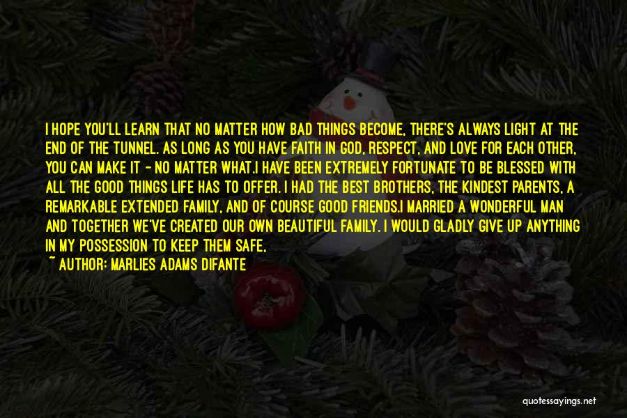 God's Blessings To You Quotes By Marlies Adams Difante