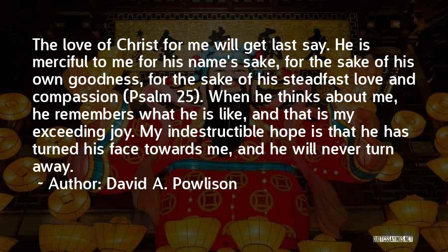 God's Goodness Quotes By David A. Powlison