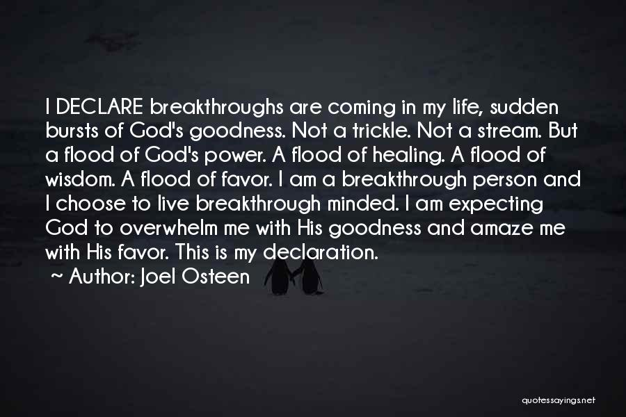 God's Goodness Quotes By Joel Osteen