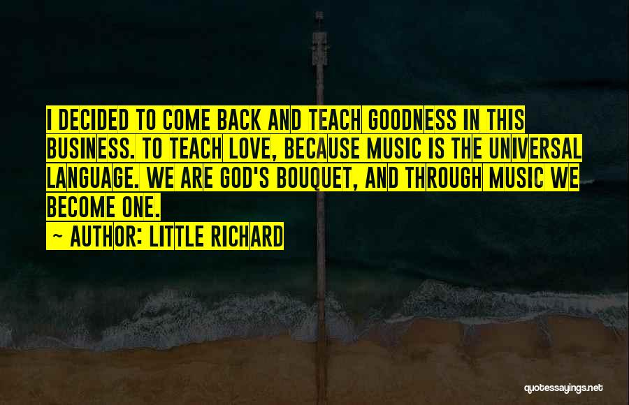God's Goodness Quotes By Little Richard