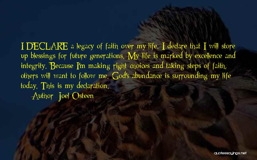 God's Will For My Life Quotes By Joel Osteen