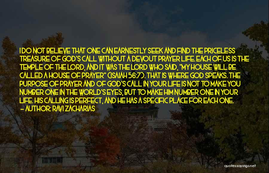 God's Will For My Life Quotes By Ravi Zacharias
