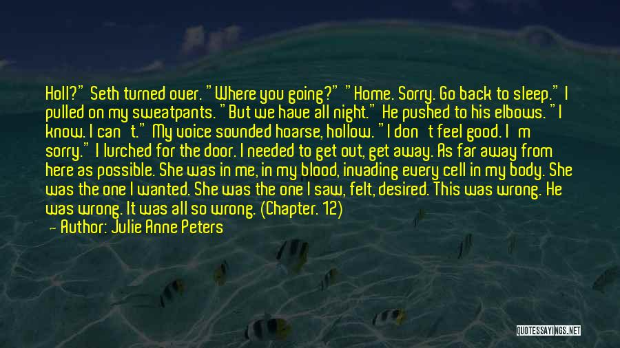 Going Back Home Soon Quotes By Julie Anne Peters