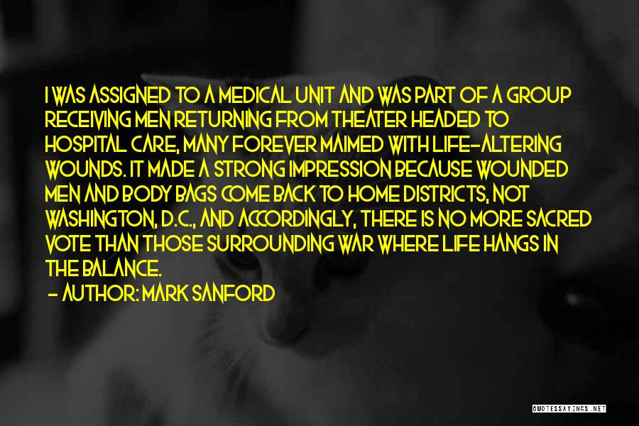 Going Back Home Soon Quotes By Mark Sanford