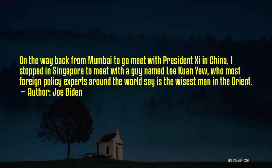 Going Back To Mumbai Quotes By Joe Biden