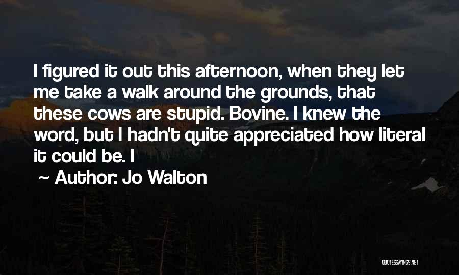 Going Bovine Quotes By Jo Walton
