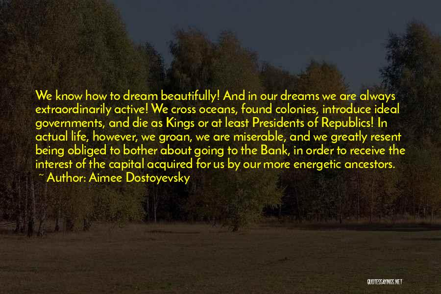 Going For Dreams Quotes By Aimee Dostoyevsky