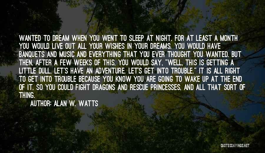 Going For Dreams Quotes By Alan W. Watts