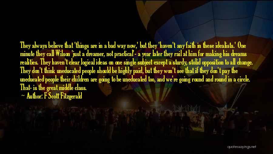 Going For Dreams Quotes By F Scott Fitzgerald