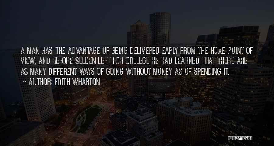 Going Home From College Quotes By Edith Wharton