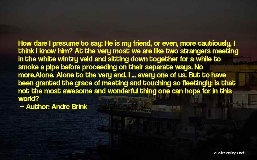 Going Separate Ways Quotes By Andre Brink