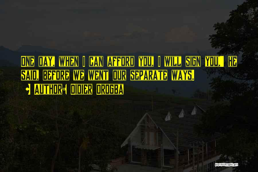 Going Separate Ways Quotes By Didier Drogba