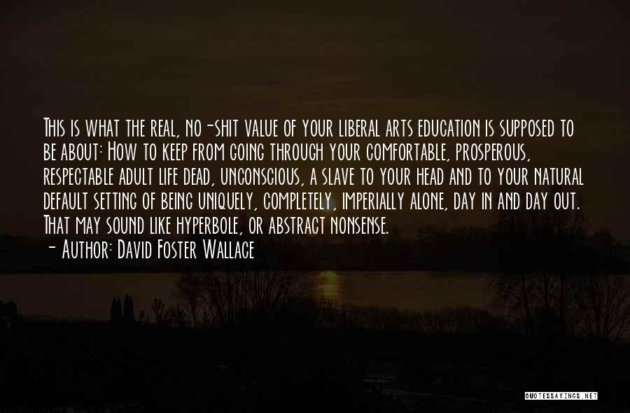 Going Through Life Alone Quotes By David Foster Wallace