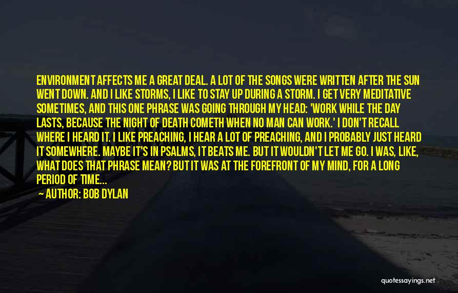 Going Through Storms Quotes By Bob Dylan