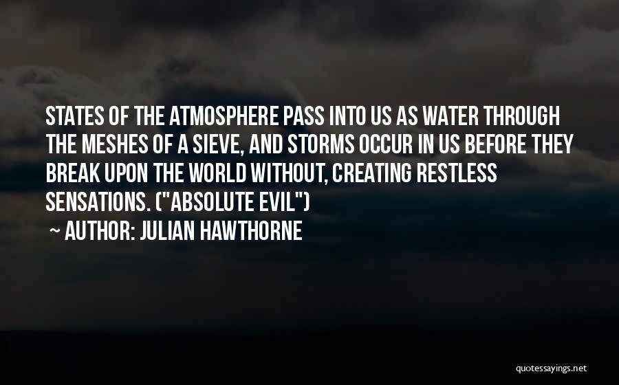 Going Through Storms Quotes By Julian Hawthorne