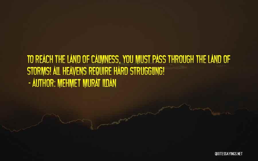 Going Through Storms Quotes By Mehmet Murat Ildan