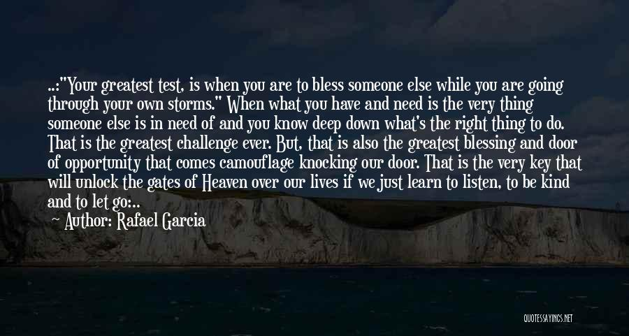 Going Through Storms Quotes By Rafael Garcia