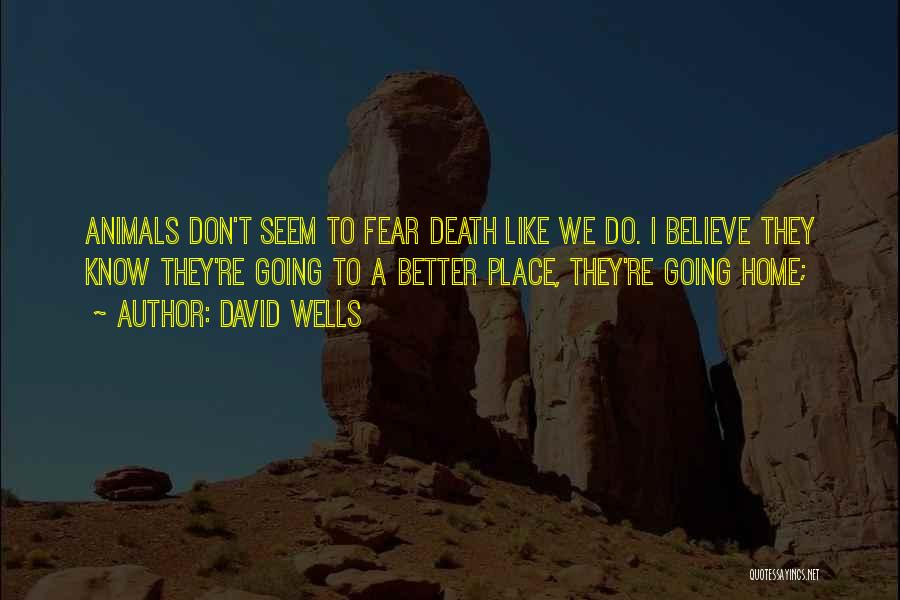 Going To A Better Place Quotes By David Wells