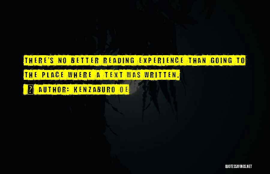 Going To A Better Place Quotes By Kenzaburo Oe