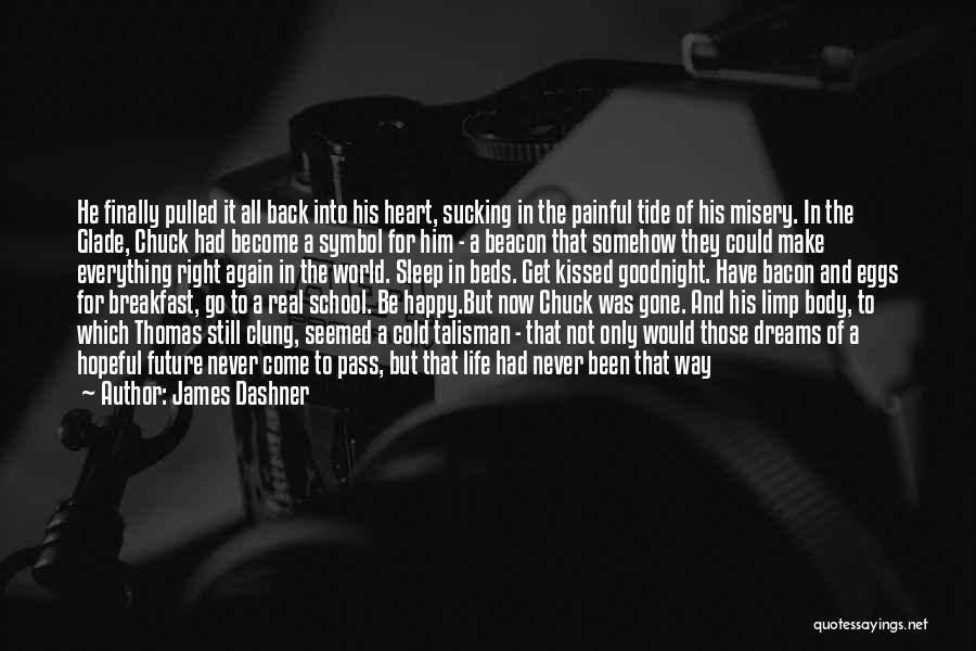 Going To Sleep Happy Quotes By James Dashner