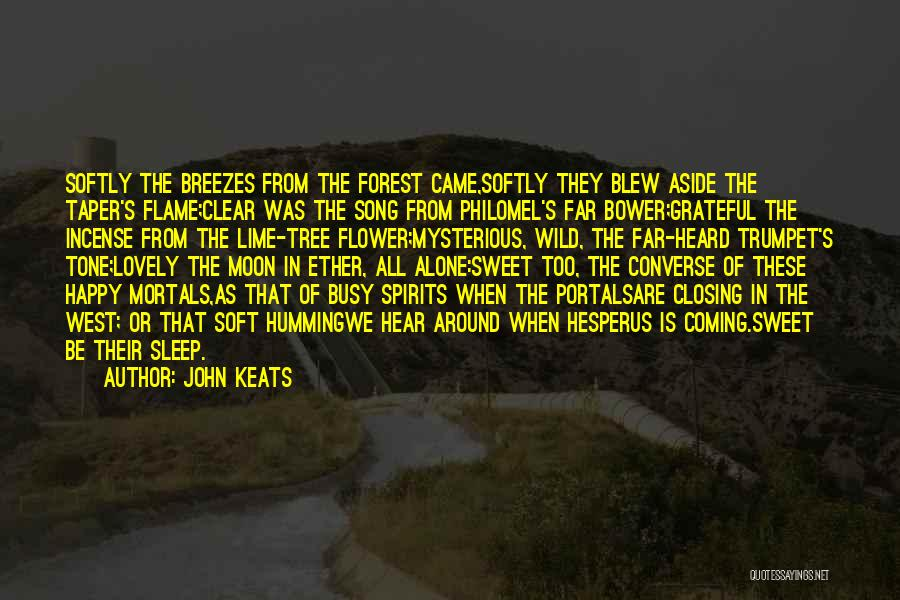 Going To Sleep Happy Quotes By John Keats