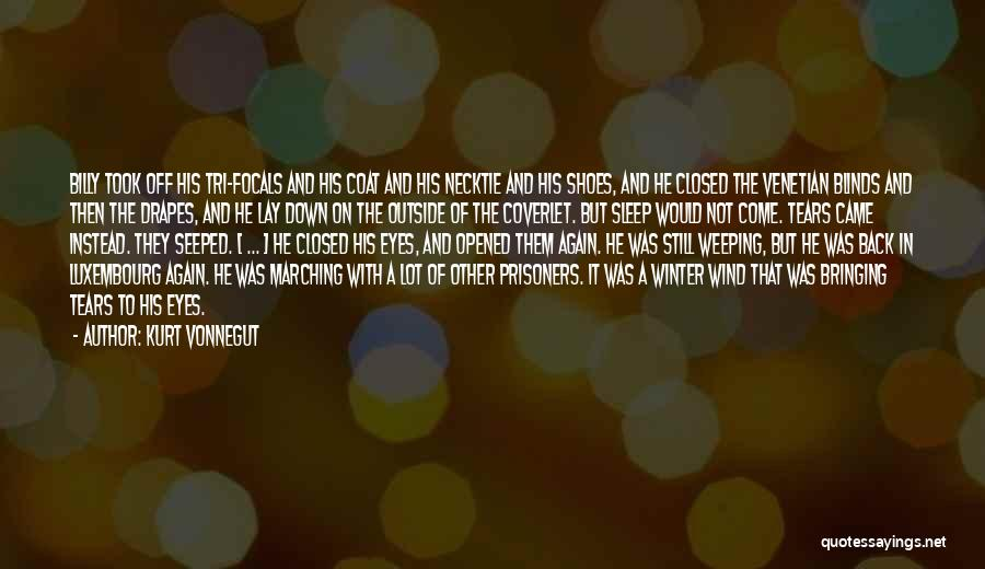 Going To Sleep Happy Quotes By Kurt Vonnegut