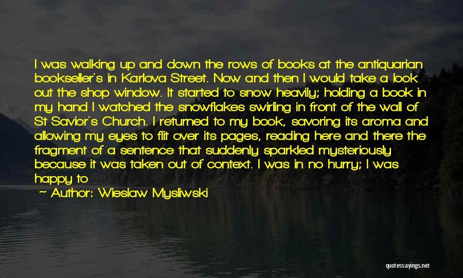 Going To Sleep Happy Quotes By Wieslaw Mysliwski
