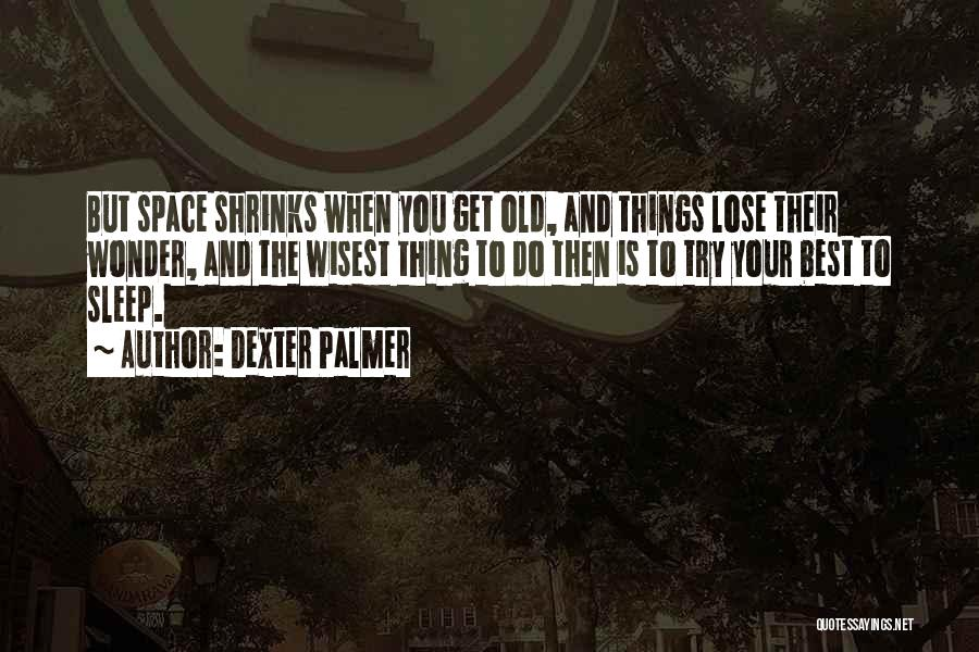 Going To Sleep Sad Quotes By Dexter Palmer