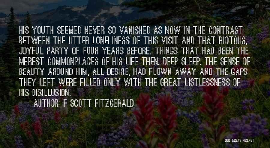 Going To Sleep Without You Quotes By F Scott Fitzgerald