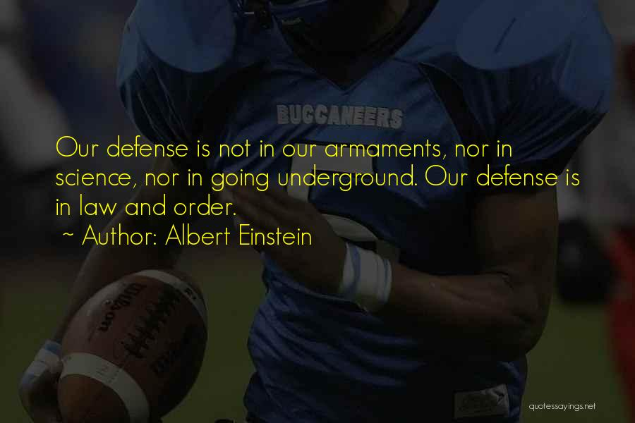 Going Underground Quotes By Albert Einstein