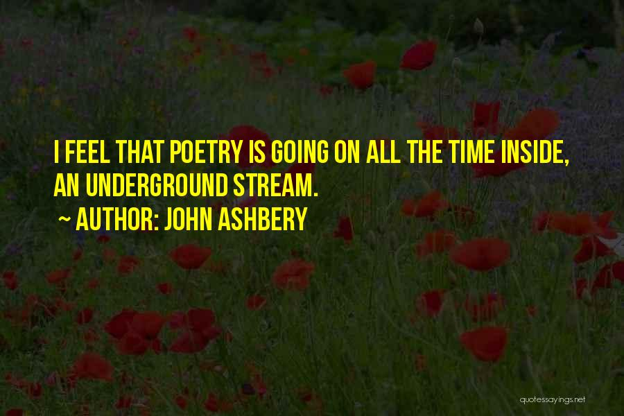 Going Underground Quotes By John Ashbery