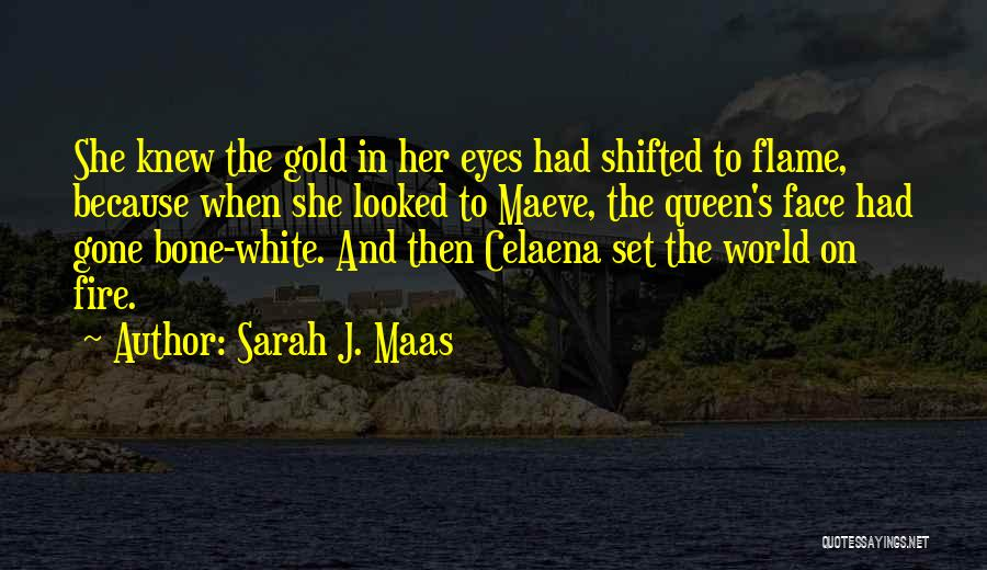 Gold Eyes Quotes By Sarah J. Maas