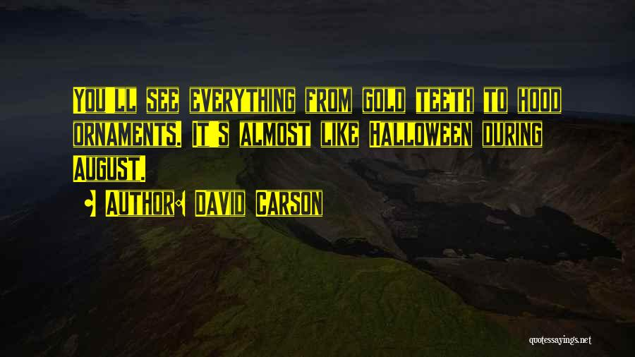 Gold Ornaments Quotes By David Carson
