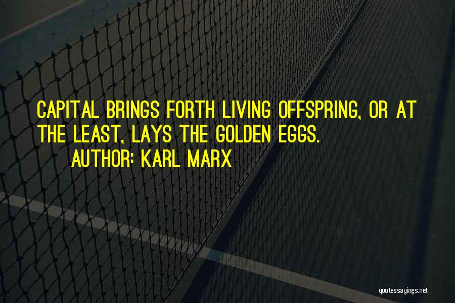 Golden Eggs Quotes By Karl Marx