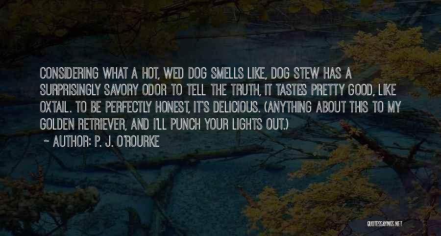 Golden Retriever Dog Quotes By P. J. O'Rourke