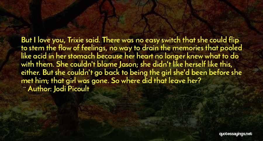 Gone Feelings Quotes By Jodi Picoult