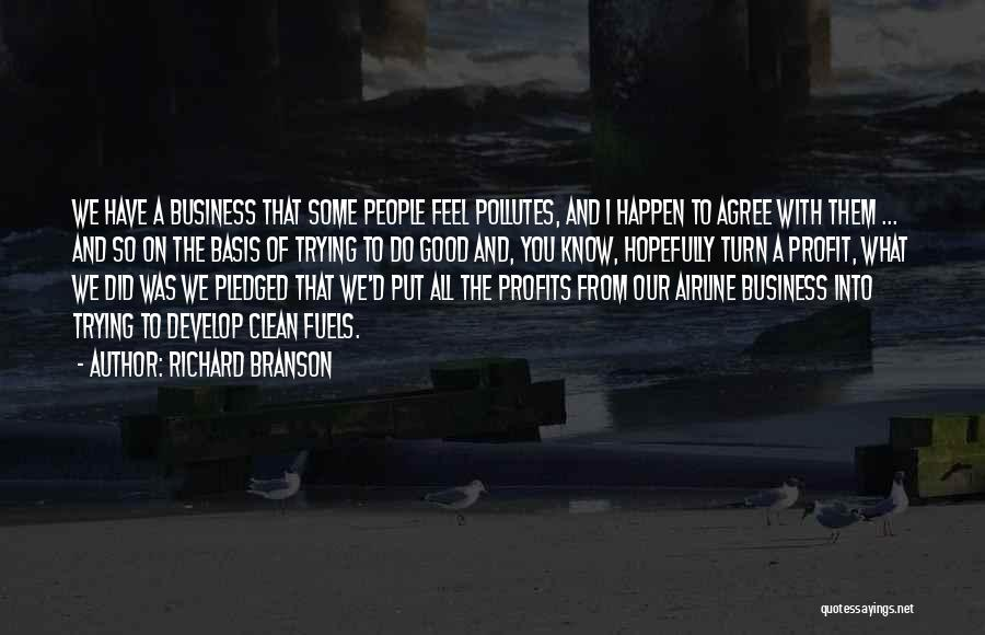 Good Airline Quotes By Richard Branson