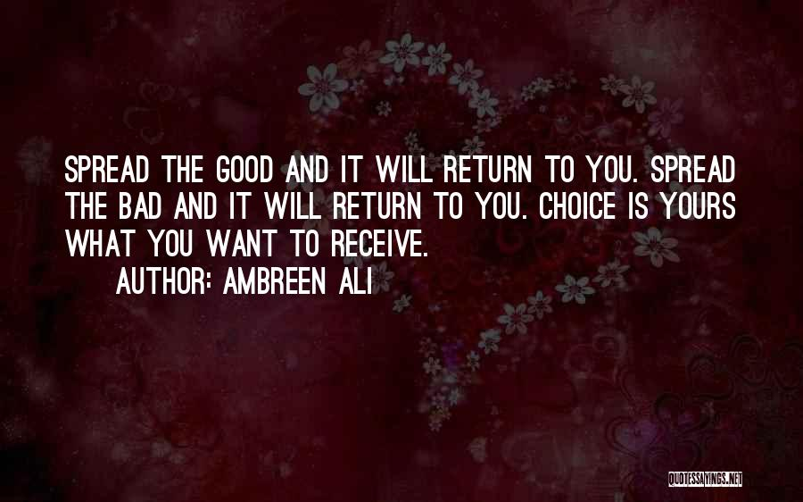 Good And Bad Choice Quotes By Ambreen Ali