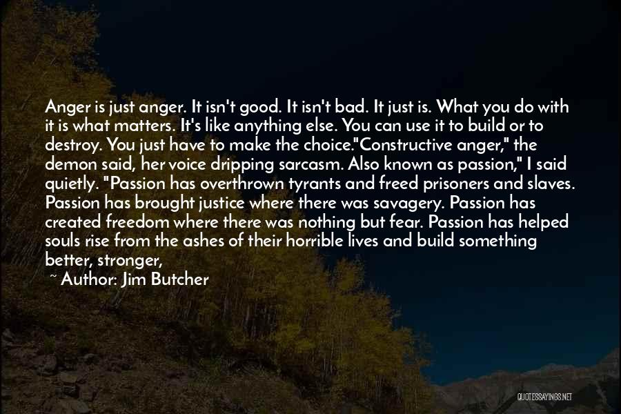 Good And Bad Choice Quotes By Jim Butcher