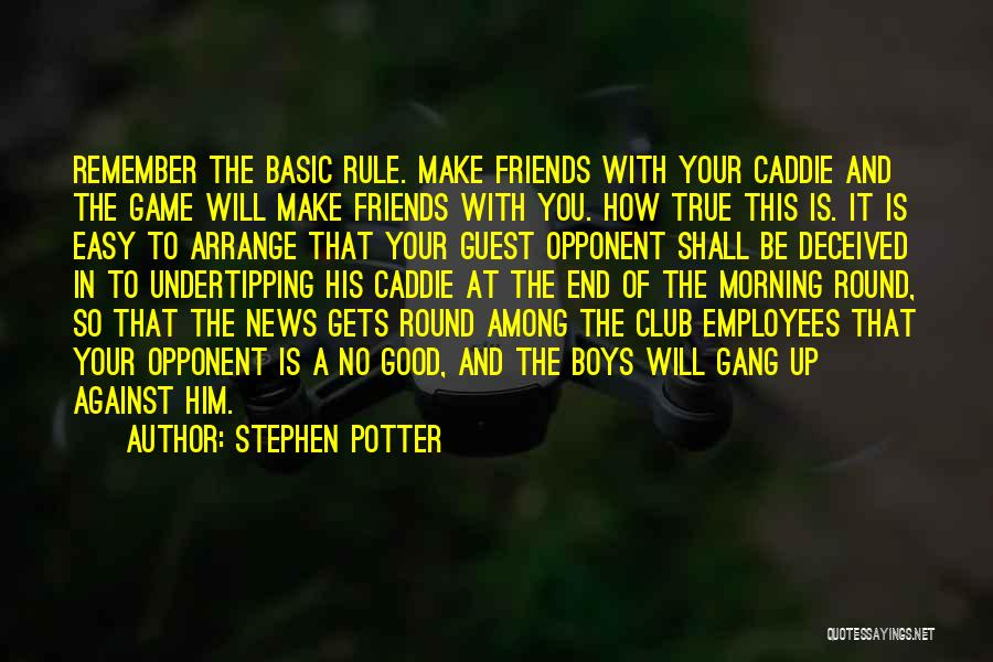 Good And True Friends Quotes By Stephen Potter