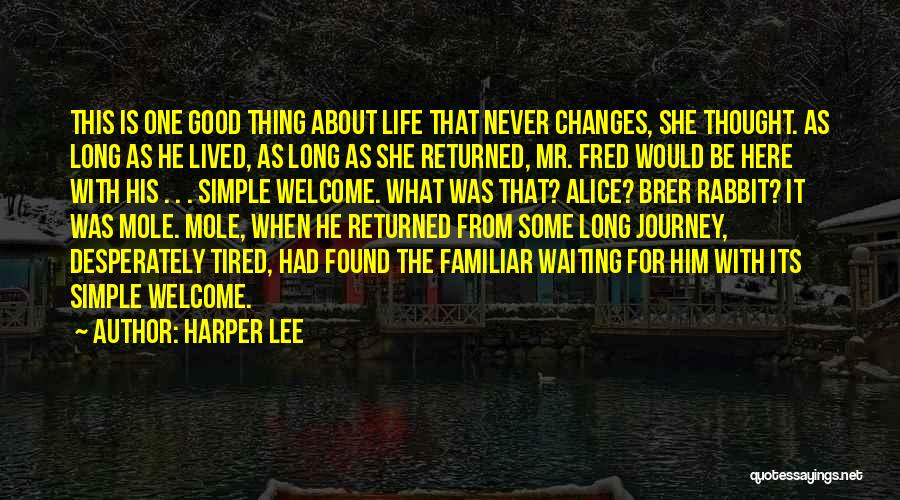 Good Changes In Your Life Quotes By Harper Lee