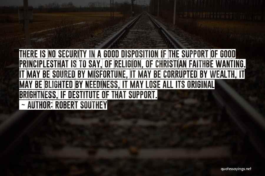 Good Christian Faith Quotes By Robert Southey