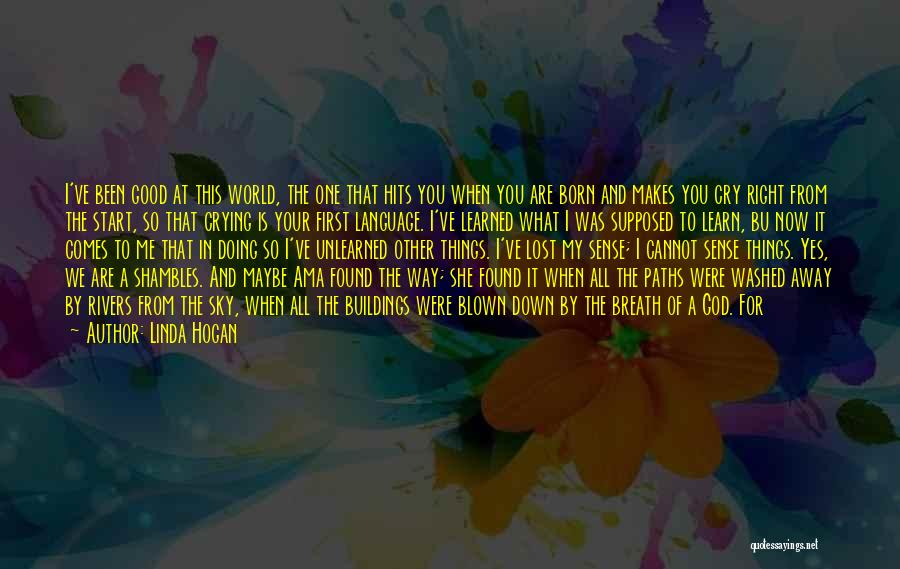Good Day To Start Quotes By Linda Hogan