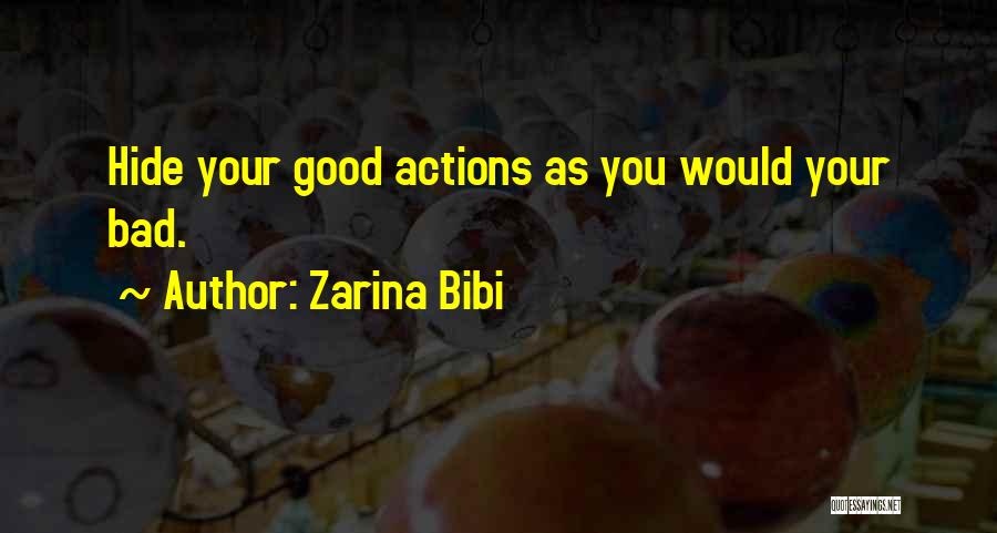 Good Deeds In Islam Quotes By Zarina Bibi