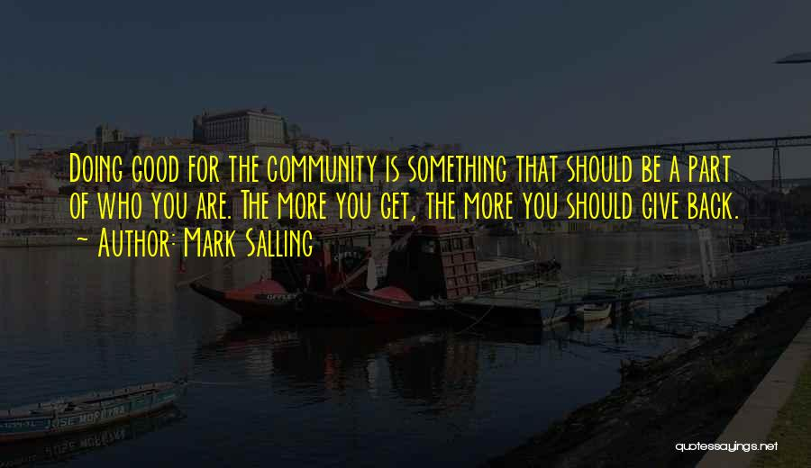Good Doing Quotes By Mark Salling