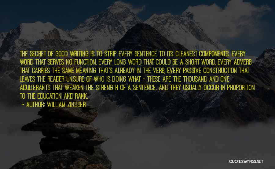 Good Doing Quotes By William Zinsser